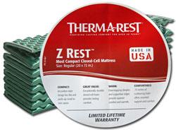 Полиэтиленовый коврик Therm-a-Rest Z Rest, распространяемый через крупнейшие американские дискаунтеры Walmart и Target