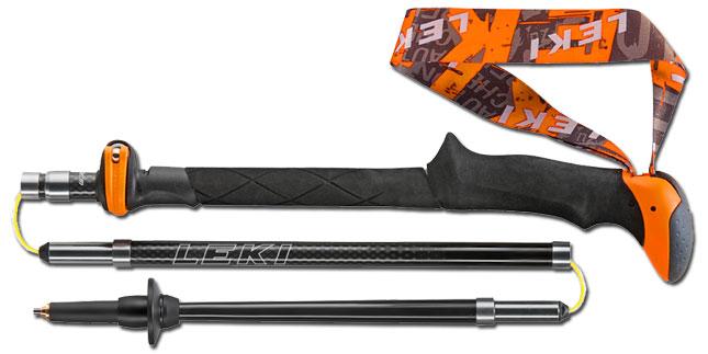 Складная (шнуровая) треккинговая палка Micro Vario Carbon немецкой фирмы Leki
