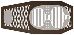 Конструктивная схема коврика Hyper High Mtn американской фирмы Pacific Outdoor Equipment