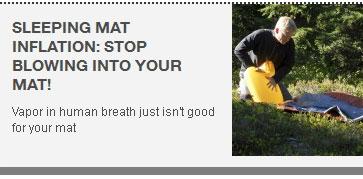 """Швейцарская фирма Exped: """"Не надувайте коврик ртом!"""""""