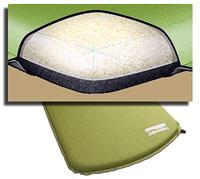Коврик Therm-a-Rest ToughSkin фирмы Cascade Designs с комбинацией пены с открытыми и закрытыми ячейками