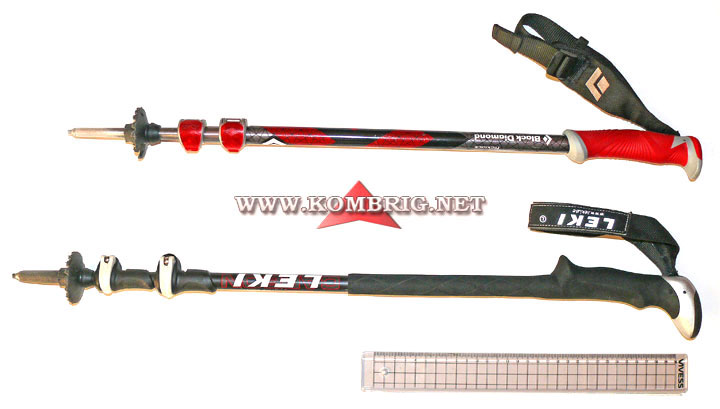 Рукоятки треккинговых палок: стандартная (короткая) и удлинённая