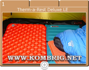 Туристические коврики Sea to Summit Comfort plus Insulated (Regular Rectangular) и Therm-a-Rest Deluxe LE