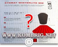 Технические характеристики туристического коврика Exped SynMat Winterlite MW, данные с упаковочной коробки