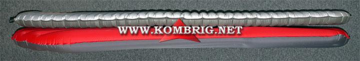 Разница в размерах ковриков Therm-a-Rest NeoAir XTherm (серебристого цвета) и Exped SynMat Winterlite MW (красного цвета) в случае, когда эти коврики полностью наполнены воздухом (2)