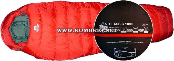 Спальный мешок Classic 1000 английской фирмы Mountain Equipment, использованный в тесте туристического коврика Exped SynMat Winterlite MW